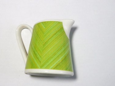 Syracuse China Sterlite Syralite Restaurantware Creamer 1980s Green / White Many Available