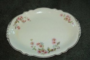 Homer Laughlin 13 in Virginia Rose Platter Mint Condition 3 Sprays