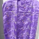 New Purple Silk Scarf - Shawl with Flower Embroidery 24 x 60