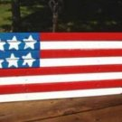 American Flag USA Wooden Hand Crafted and Designed ~ Brand New Home Decor
