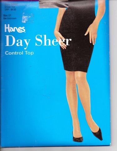 NEW Hanes Day Sheer Pantyhose Control Top Gentlebrown Size EF