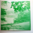 Memories in Song lp by Midwestern Camp Choir 1962 n08p