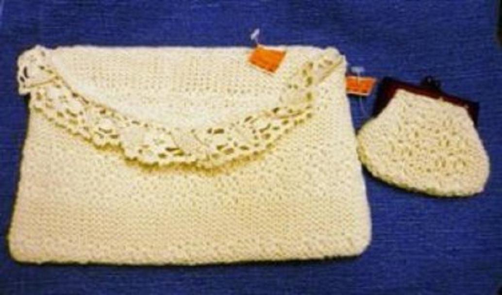 NWT Woven Purse Clutch Plus Change Purse 7x11x1 Off White
