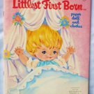 Littlest First Born Paper Doll and Clothes Cut Out Book 1971 Uncut As New