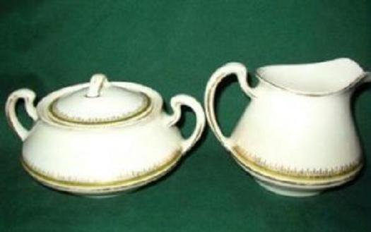 Homer Laughlin Sugar and Creamer ~ Empress Pattern Antique and Rare