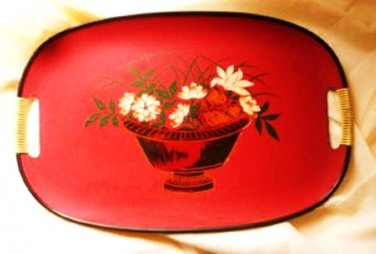 Lacquer Ware 1950s Tray Marked Japan
