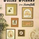 Feline Friends Cat Charted Cross Stitch Needlepoint Design Book by Susan Bates