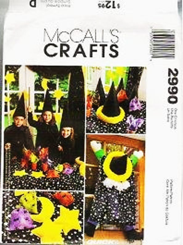 McCalls Sewing Pattern 2990 Uncut 9 Pc Halloween Wizard, Centerpiece,Tablecloth+++