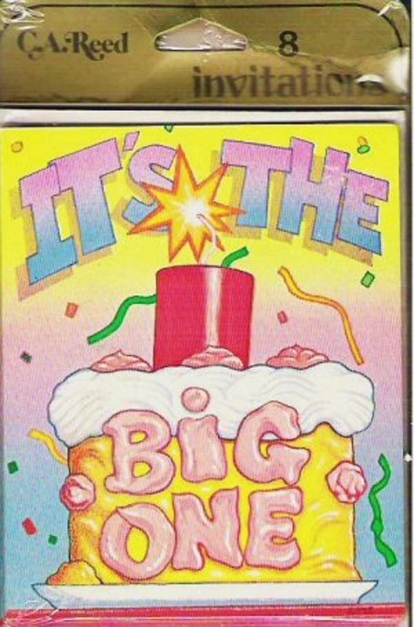 Its the Big One Birthday Party Invitations Pack of Eight - New in Package