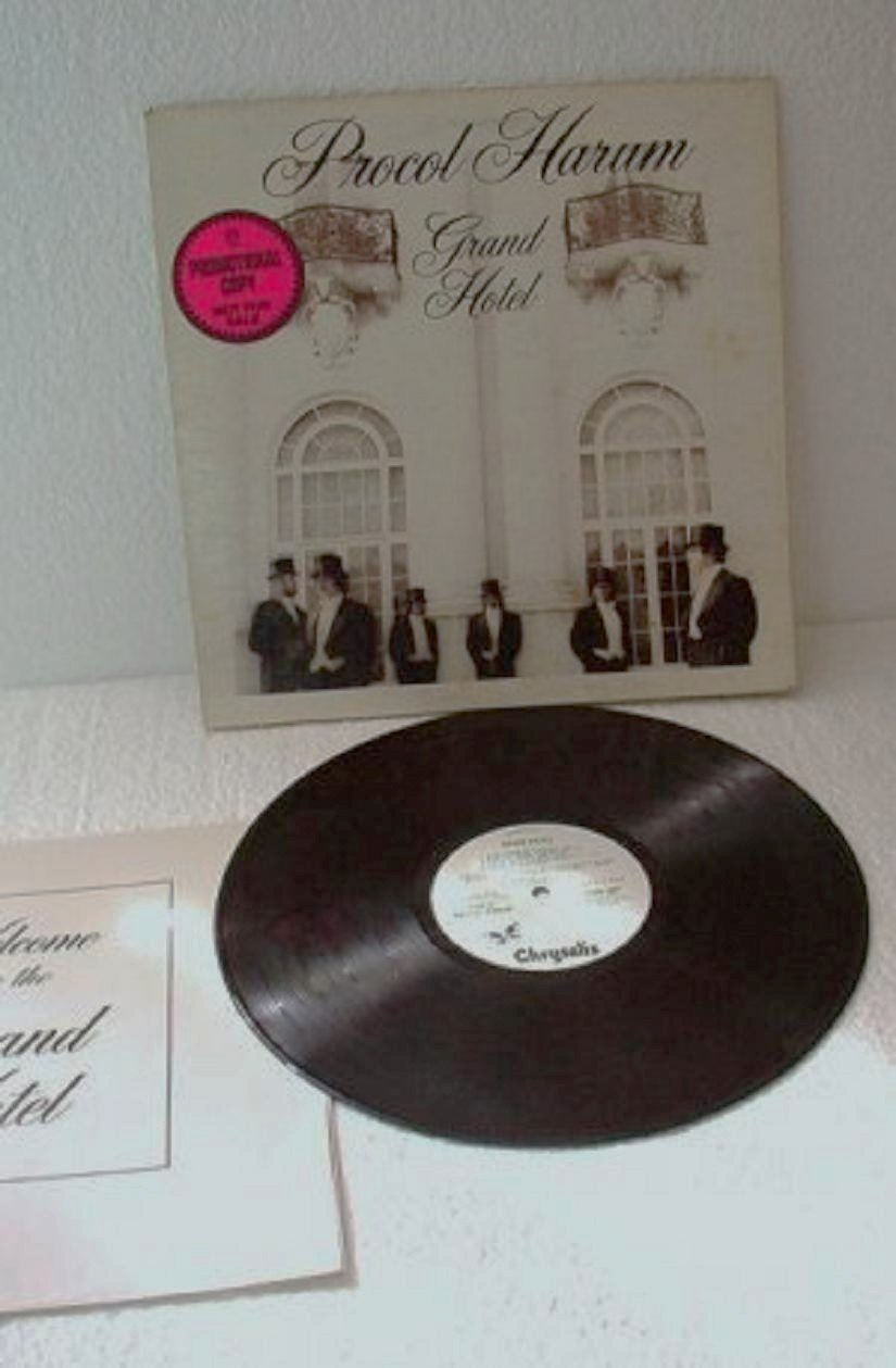 Grand Hotel lp Record by Procol Harum Promo w Brochure White Label 1973 lp