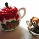 NIB Holiday Potpourri Teapot and Teacup - American Greetings