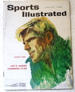Sports Illustrated Mag August 14 1961 Murray Rose on Cover