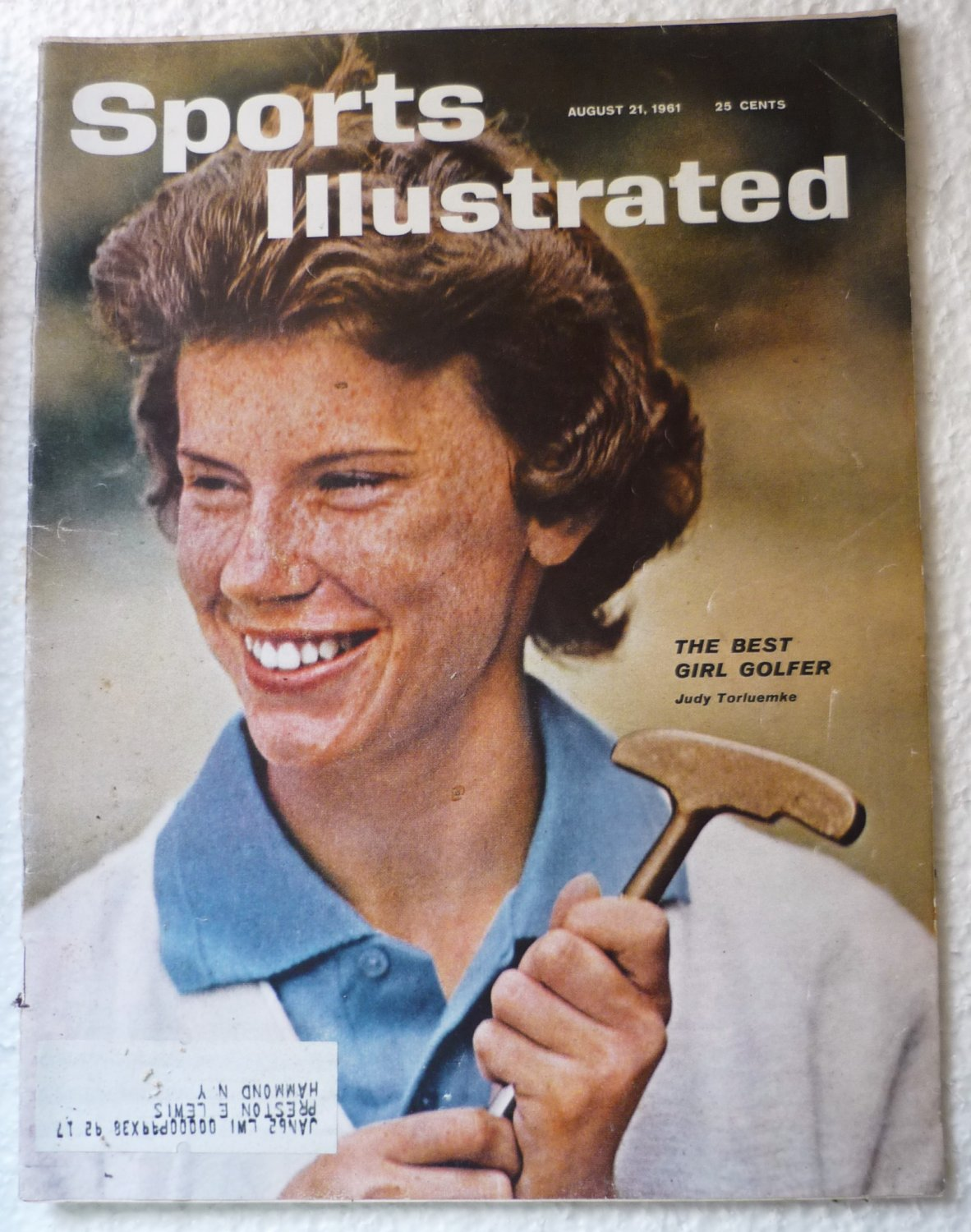 Sports Illustrated August 21 1961 Judy Torluemke on Cover
