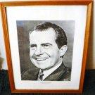 Richard M Nixon Picture - Replica of Original by Philippe Halsman - Framed