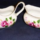 Miniature Individual Creamer and Sugar - Bone China Vintage Roses
