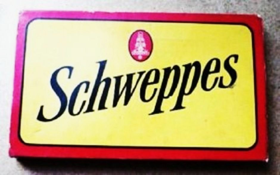 Schweppes Cutting Board and Knife Set Good Cond Original 1960s?