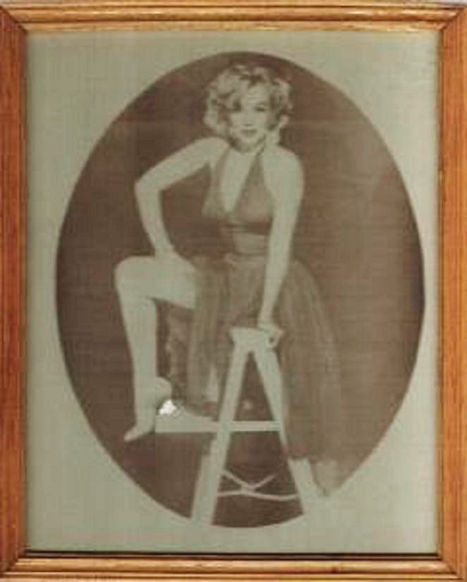 Marilyn Monroe Picture~Photocopy in Frame 8 x 10