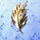 Bsk Gold Tone Leaf Pin Brooch Signed B.S.K. Vintage Estate Find