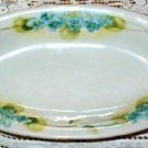 Antique Nippon Celery or Vegetable Dish with Cut Out Handles