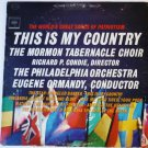This Is My Country lp The Mormon Tabernacle Choir ms6419