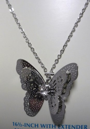 New: Butterfly on Neckchain with Rhinestone