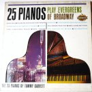 25 Pianos Play Evergreens of Broadway Tommy Garrett