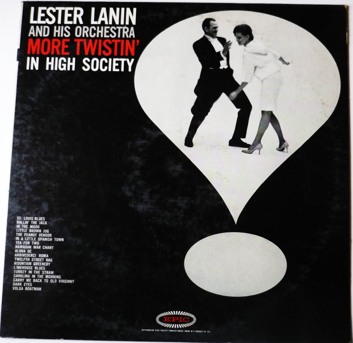 More Twistin in High Society lp by Lester Lanin ln3836