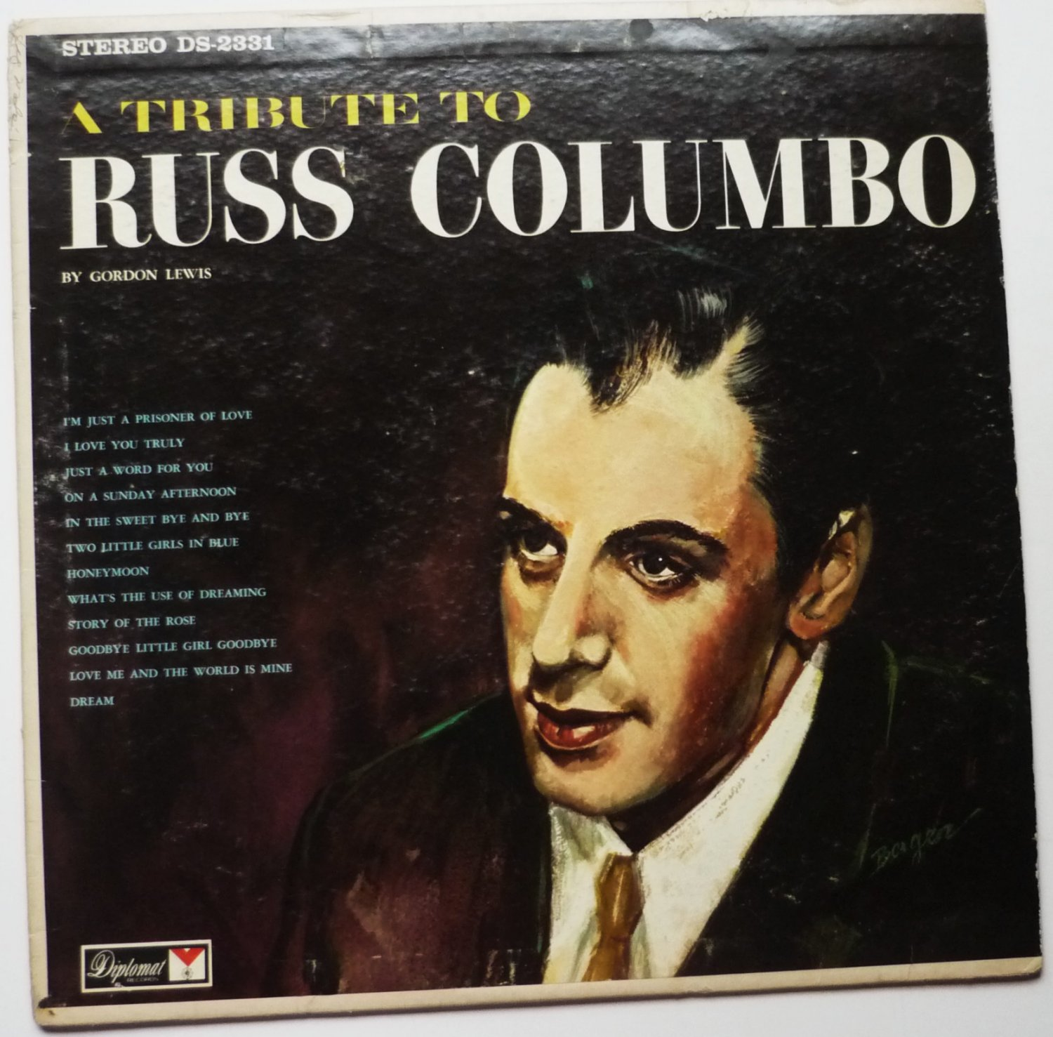 A Tribute to Russ Columbo lp by Gordon Lewis