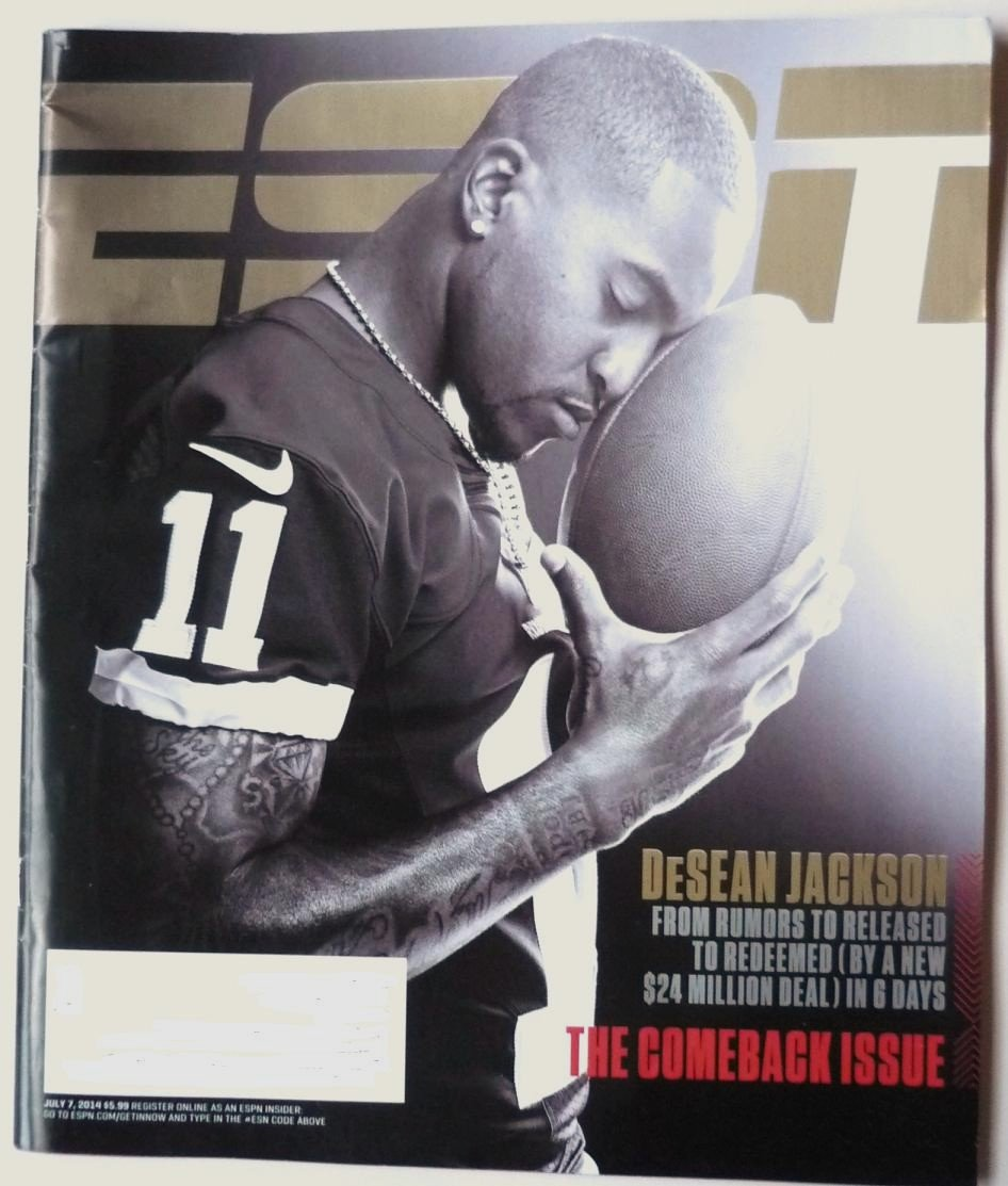 ESPN The Magazine July 7 2014 DeSean Jackson on Cover