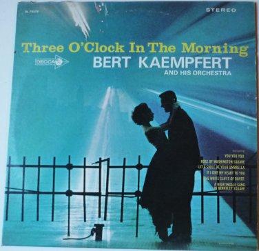 Three OClock in the Morning lp - Bert Kaempfert dl74670