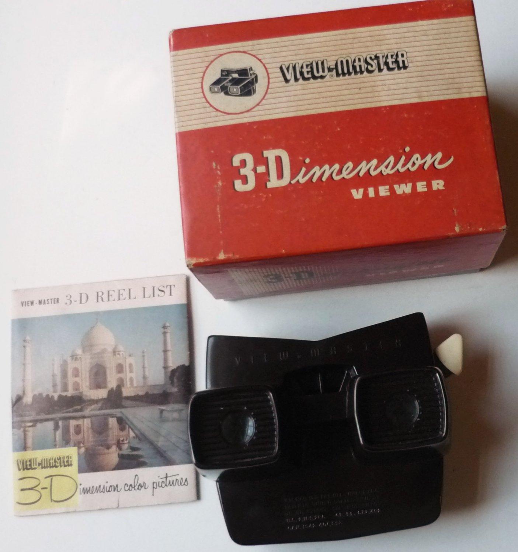 View Master Model E Brown Bakelite w Original Box and Paperwork USA