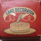 Vintage Lorraine Novelty Mfg Co Cake Decorator includes orig box and 6 Tips