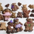 Lot of 27 Bear Buttons - Some Decorated Ballet Birthday