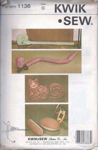 Kwik Sew 1136 Uncut Unopened Animal Shaped Draft Stoppers