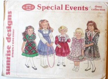 Sunrise Designs Sewing Pattern - Special Events Dresses UNCUT - Girls Sz 4-7