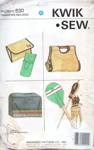 Kwik Sew 830 Sealed Racket and Golf Club Cover Wood Carrier Purse
