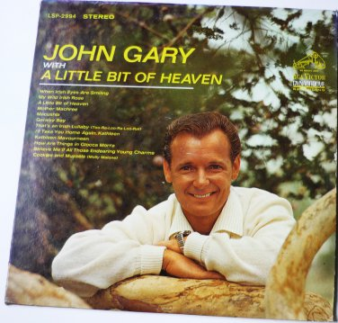 John Gary With A Little Bit of Heaven lp Stereo