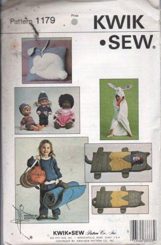 Kwik Sew Pattern 1179-Childs sleepingbag/towel/dufflebag/pillow/doll clothes NEW