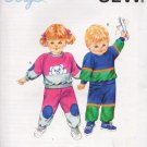 1987 Kwik Sew Pattern 1651 Toddler Jogging Suit 1 2 3 4 New Uncut Sealed