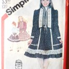 Simplicity UNCUT Pattern 5625 Ruffled Skirt Blouse Quilted Jacket - 1982 Girls Size 8