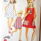 Simplicity Pattern 7616 Girls Dress in 2 Lengths and Shorts Size 8
