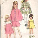 Vintage Simplicity Pattern 8719 - Children Girls Cape and Dress Sz 7