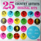 25 Great Country Artists Singing Their Original Hits lp