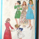 Simplicity pattern 8288- 1977- Girls Sz 7 Dress and Pinafore - two lengths and Sundress