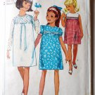 Simplicity Girls Pattern 6379 Yoke Dress w Puff or Long Sleeves Sz 10