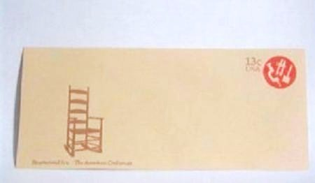 USPS Bicentennial Era American Craftsman 13 cent Envelope Unused