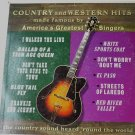 Country and Western Hits lp Made Famous By Americas Greatest Singers