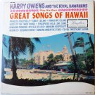 Great Songs of Hawaii lp by Harry Owens