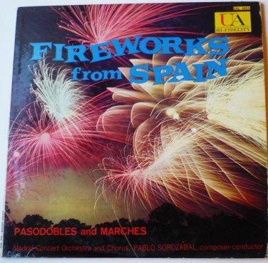 Fireworks from Spain lp by Pablo Sorozabal