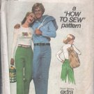 1977 Vntg Simplicity Pattern 7867 Junior/Teen Sz 9/10 Pants and Hand Bag